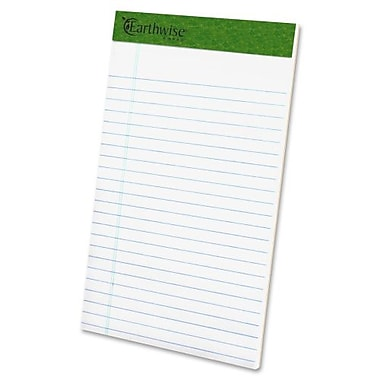 Ampad Recycled Perforated Junior Legal Rule Pads, 5