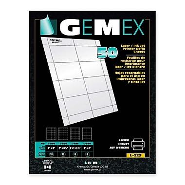 Gemex Badge Holder Insert Cards, 2-1/2