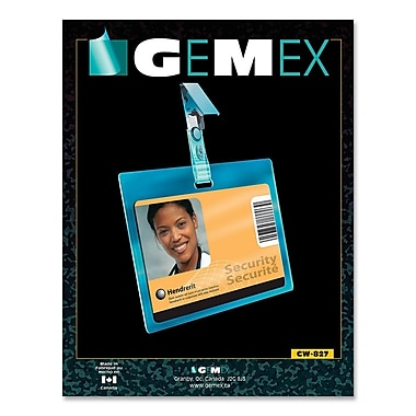 Gemex CW827 Security I.D Card Horizontal Badge Holders, 2-1/4