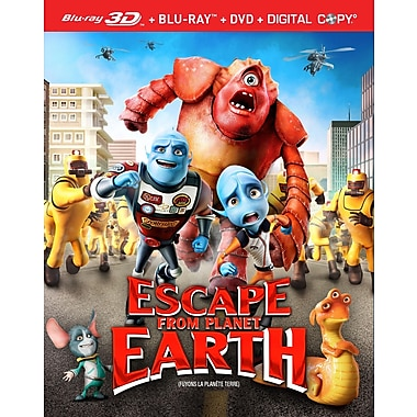 Escape From Planet Earth (3D Blu-Ray + Blu-Ray + DVD + copie numérique)