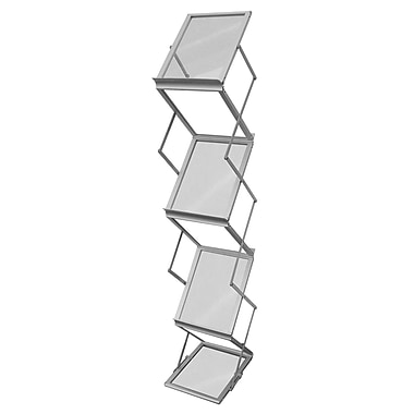 Porte-documents pliant, aluminium, 8 1/2 lar. x 11 haut. (po)