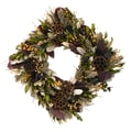 The Christmas Tree Company Lotus Woodlands 17in. Dried Floral Wreath