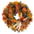 The Christmas Tree Company Pilgrim's Harvest 18in. Dried Floral Wreath