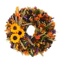 The Christmas Tree Company Sunflower Sensation 18in. Dried Floral Wreath