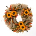 The Christmas Tree Company Urban Sunflower 18in. Dried Floral Wreath