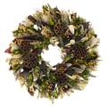 The Christmas Tree Company Lotus Woodlands 18in. Dried Floral Wreath