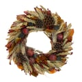 The Christmas Tree Company Pomegranate Wheat 18in. Dried Floral Wreath