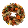 The Christmas Tree Company Pumpkin Celebration 18in. Dried Floral Wreath