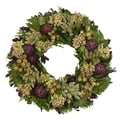 The Christmas Tree Company Violet Artichoke 22in. Dried Floral Wreath