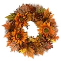 The Christmas Tree Company Sunflower Saunter 22in. Dried Floral Wreath