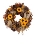 The Christmas Tree Company Fall Fair 22in. Dried Floral Wreath