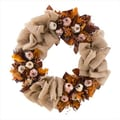 The Christmas Tree Company Bronze & Burlap 22in. Dried Floral Wreath
