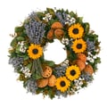 The Christmas Tree Company Superb Sunflower 22in. Dried Floral Wreath