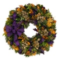The Christmas Tree Company Violet Medley 22in. Dried Floral Wreath