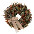 The Christmas Tree Company Autumn Pheasant 22in. Dried Floral Wreath