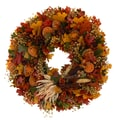 The Christmas Tree Company Pilgrim's Harvest 22in. Dried Floral Wreath
