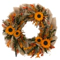 The Christmas Tree Company Urban Sunflower 22in. Dried Floral Wreath