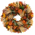 The Christmas Tree Company Pumpkin Celebration 22in. Dried Floral Wreath