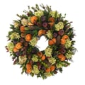 The Christmas Tree Company Quince, Pinecone, & Pomegranate 22in. Dried Floral Wreath