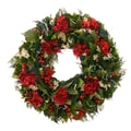 The Christmas Tree Company Holiday Tidings 18in. Dried Floral Wreath