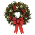 The Christmas Tree Company Christmas Roses 18in. Dried Floral Wreath