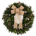 The Christmas Tree Company Plentiful EverGreen 22in. Dried Floral Wreath