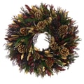 The Christmas Tree Company Golden Goodwill 18in. Dried Floral Wreath
