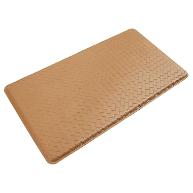 Gelpro® Basketweave Plush Mat, 20in. x 36in., Khaki