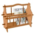 Ore International® 14in. Wood Magazine Rack, Light Brown