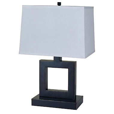 Ore International® 22in. Square Table Lamp, Dark Bronze