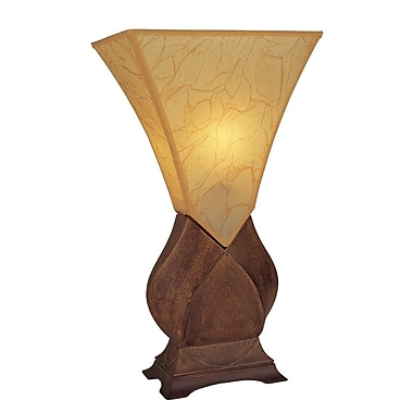 Ore International® 23 1/2in. Tortoise Shell Table Lamp, Brown