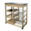 Ore International® Wood Kitchen Cart