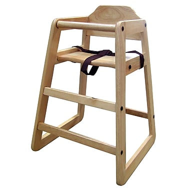 Ore International® Wooden Toddler Restaurant High Chair, Natural