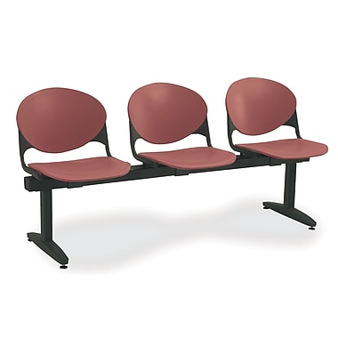 KFI Seating Polypropylene 3 Seat Beam Seating Chairs