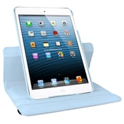 Natico 60-IM360-LBL Faux Leather Folio Case for Apple iPad Mini, Light Blue