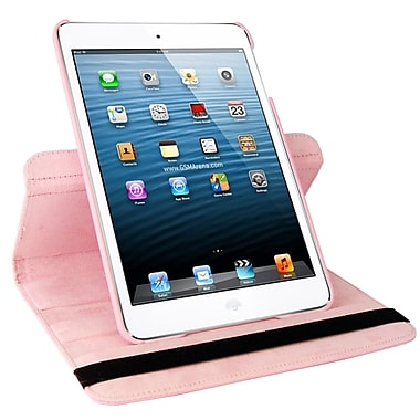 Natico 60-IM360-LPK Faux Leather Folio Case for Apple iPad Mini, Light Pink