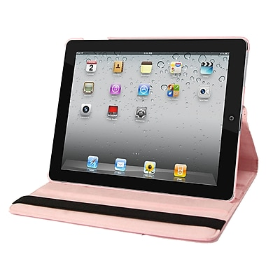 Natico 60-I360-LPK Faux Leather Folio Case for Apple iPad, Light Pink