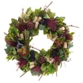 The Christmas Tree Company Wine Country 22in. Dried Floral Wreath