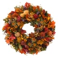 The Christmas Tree Company Autumn Glory 16in. Dried Floral Wreath