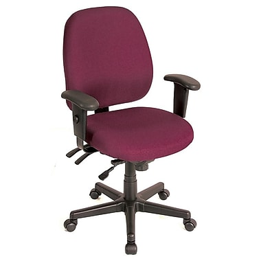 Eurotech Seating 49802ABURG Fabric Mid-Back Task Chair with Adjustable Arms, Burgundy