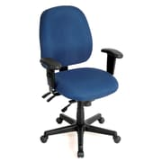 Eurotech Seating 49802ANAVY Fabric Mid-Back Task Chair with Adjustable Arms, Navy