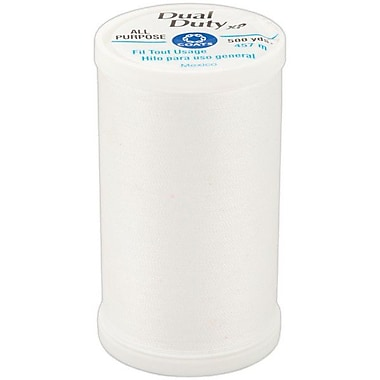 Dual Duty XP General Purpose Thread, White, 500 Yards