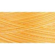 Natural Cotton Thread Variegated, Sunrise Sunset Yellow, 3,281 Yards