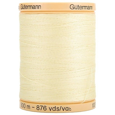 Natural Cotton Thread Solidss, Butter Cream, 876 Yard