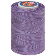 Star Mercerized Cotton Thread Variegated, Plum Shadows, 1200 Yards