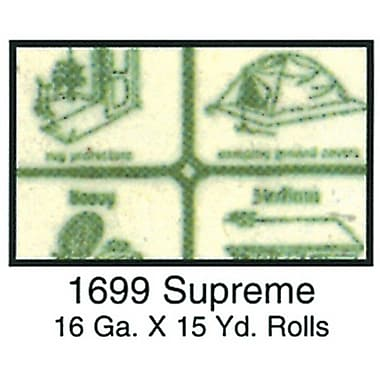 Clear Vinyl, Supreme 16 Gauge, Green Paper, 54