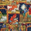 Christmas Cotton Fabric, Nativity Manger Patch, 43/44in.W