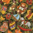 Christmas Cotton Fabric, Toys & Holly, 43/44in.W