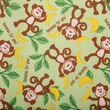 Babyville PUL Waterproof Diaper Fabric, Playful Friends Monkeys, 64in. Wide