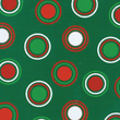 Christmas Cotton Fabric, Scattered Dot Green/Red/White, 43/44in.W